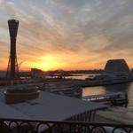 ホテル ラ・スイート神戸ハーバーランド - 部屋のテラスから望む日の出