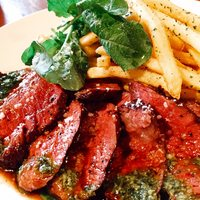 牛ハラミのファイヤーステーキ