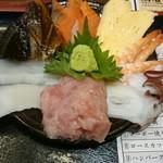 二丁目酒場 - 海鮮丼の刺身は別盛りでした。