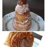 ゴントラン シェリエ - ◆モンブラン(350円)・・タワー状で中にたっぷり「マロンクリーム」が入っています。