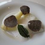 レストラン オオツ - 29年3月 フランスロワール産ホワイトアスパラ、黒トリュフ