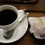 上島珈琲店 - (2017/1月)ブレンドコーヒーとミルク珈琲あんぱん