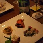 63576592 - 季節の前菜ワゴン(10種類以上から3種チョイス+京野菜バーニャカウダ)