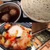 稲庭うどんとめし 金子半之助 - 料理写真:鶏つくねうどん冷+つじ半贅沢メシ
