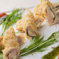 豚肉の竹の子チーズ巻揚げ