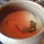 カフェ 閑居 - スープ(グリーンカレー)