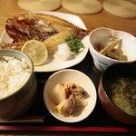肴処 百善 - キンキ開き定食\1450