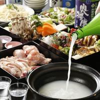無制限飲み放題付料理7品にごり酒の寄せ鍋コース6000円