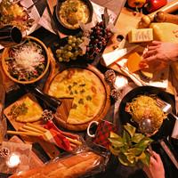 《豊富なチーズ料理の数々》