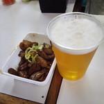 マルフク - ホルモンと生ビール