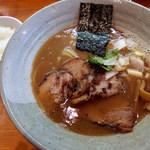 土竜 - ラーメン(780円)+ライス(サービス)