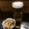 骨付鳥 蘭丸 - 料理写真:とりあえず生ヽ(*´∀`) つきだしですね←