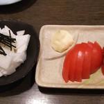 筑前屋 - 山芋たんざく&冷やしトマト