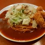 ナポリ - 料理写真:「シーフード+カキフライ3個」