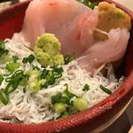 海鮮丼屋  海舟 - 目鯛とシラスの丼物