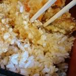 和亭 一 - 白飯のタレ浸み具合
