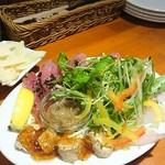 イタリアン酒場「ナチュラ」 - 鮮魚のカルパッチョ三点盛り!メジマグロが美味しい!