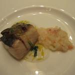 オリエンタルホテル - 鰆の蟹味噌焼き 紅ズワイ蟹と冬葱のリゾット