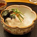 旬席 鈴江 - 淡路の5kgの河豚のお造り 白子ソースで