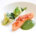 ラ・カロッツァ - 桜海老とサーモンのオーブン焼き