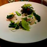エ・オ ベルナール・ロワゾー・スィニャテュール - さくら鯛  昆布締めにして春野菜とともに