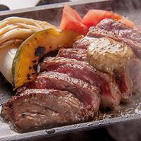 国産黒毛和牛の鉄板ステーキ トリュフバター