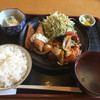 ニシキ屋 - 料理写真:日替わりランチ(肉だんごの酢豚風&サーモンフライ)