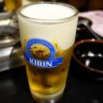 元祖 もつ鍋 楽天地 - (2017/1月)生ビール