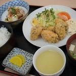 Ichibashokudou - 料理写真:御荘牡蠣フライ定食