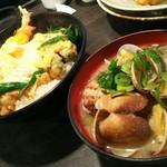 63798078 - 天丼(並盛)(630円)とあさりの味噌汁(380円)