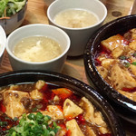 嬉々屋 来ん来ん - ランチの麻婆豆腐についてるスープ