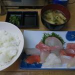 さかな亭 - 刺身定食(大盛)