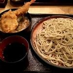 63819349 - 【ミニ天丼セット¥500+大盛¥100(税込)】