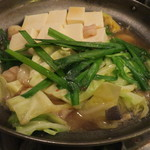 博多屋 - もつ鍋セット+山芋+豆腐