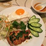 サイゴン・レストラン - 自家製焼きというポークは、味噌漬けのような味でした('17/03/12)