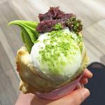 鯛パフェ - お抹茶小豆ジェラートパフェ