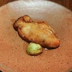 東京チャイニーズ 一凛 - 三陸の牡蠣の焼き物と芽キャベツ