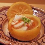 63842521 - 柚子器の蒸し寿司