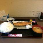 和 - 料理写真:ほっけ定食大盛り全景。