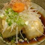 国分寺そば - 揚げ出し豆腐