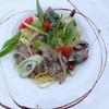 Italian Kitchen BUONO - 料理写真:イベリコ豚と葱のペペロンチーノ