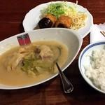 アカシア - 2.帆立貝のクリームコロッケとロールキャベツシチュー(ライス付)1,170円