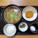 とらそば - 朝そば定食¥350