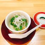 佐とう - 玉子豆腐 白ハマグリと春野菜餡