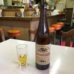 食堂 一休 - ビール大瓶590円