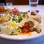 マザーエスタ - カジキマグロの香草焼き、菜の花とポテトのグラタン