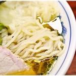 白河中華そば - 弾力があってすんごくコシの強い麺です。コレコレ♪