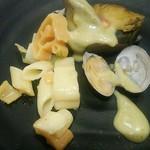 グルメバイキング オリンピア - 鮑のステーキ 春色菜の花ソース
