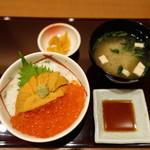 函館うに むらかみ - 2017.03 生うにとイクラ丼のSサイズ(2538円)