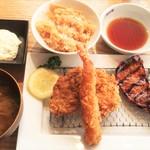 田なか屋 - エビフライ&ヒレカツ&炙りロースで1500円→1000円